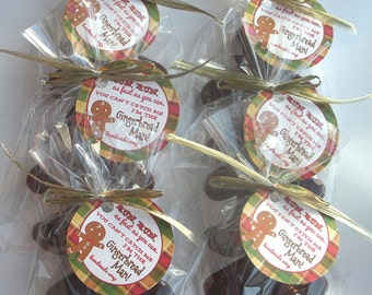 Gingerbread Man Stocking Stuffers Secret Santa Gifts Handmade Soap (6 Total-Includes Tags and FREE SHIPPING!)