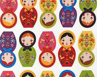 Little Kukla in Bright,  Suzy Ultman Robert Kaufman Fabric, Choose your cut