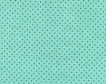 Cotton and Steel Fabric Basics Add It Up in color Sea Glass Aqua, Choose your cut