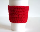 RESERVED Listing for Nassreen, 4 Crocheted Coffee Sleeves