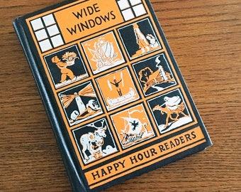 Wide Windows Happy Hour Readers 1937, Third Reader, Children's Stories, School Book
