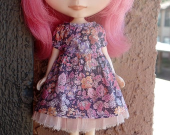 Peasant girl dress set for Blythe