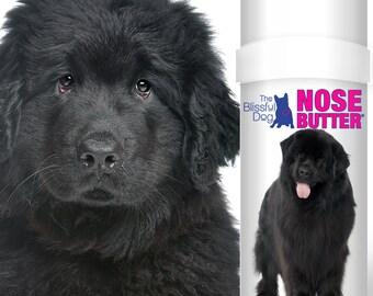 Newfoundland Dog NOSE BUTTER® Handcrafted All Natural Balm for Dry Cracked Dog Noses  BIG 2 oz Tube Black or Landseer Newfie Label