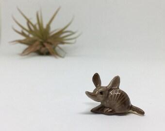 Vintage Hagen Renaker Baby Armadillo Figurine - Miniature Bone China Animal