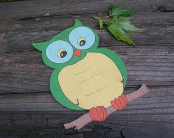 Vintage 1950's Owl Potholder or Key Holder