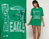 Philadelphia Eagles Shirt Football Tshirt DISTRESSED 80s Football T Shirt Paper Thin Tee Nfl Sports Vintage Throwback Retro Extra Large xl