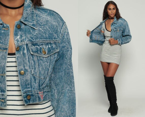 90's Cropped Denim Jacket pJrSJ6Tu