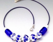China Blue and White Leather Choker
