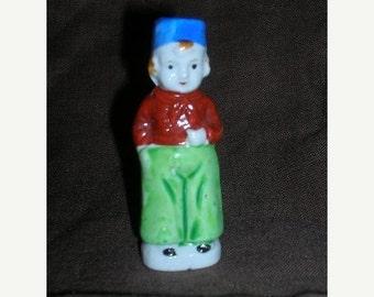 SALE- Little Antique Dutchboy Porcelain Figurine
