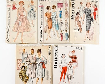 Shop Sale CLEARANCE Vintage 1960s Womens Size 14 Sewing Pattern Lot / b34 w26 / Dresses, Robe, Sports Separates / Choose Your Pattern or All