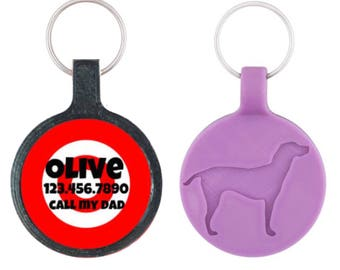 Target Practice Custom Personalized Dog ID Pet Tag Custom Pet Tag You Choose Tag Size & Colors