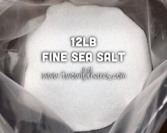 12 LB. SEA SALT, Food Grade, Fine Granulated