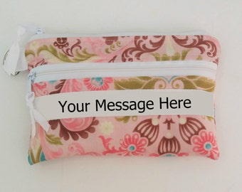 Personalized gift, Personalized Bag, Christmas Gift for her,  Personalized zippered bag, Personalized pouch, Makeup pouch, makeup bag