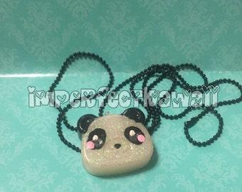 Sparkly Panda necklace