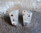 Spring Thaw Dendritic Stud Earrings