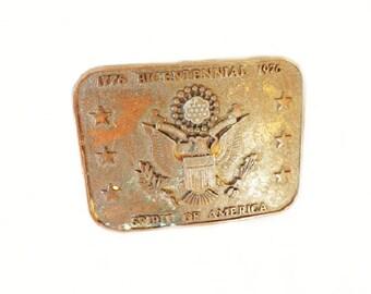 Vintage 1976 Men's Brass Belt Buckle, Spirit of America, Bicentennial Collectible,  Men's Accessories, Belt Accessories