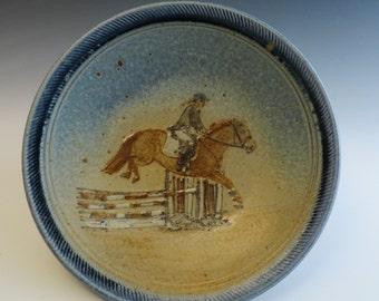 Dinner Plate - Hunter/Jumper  Horse & Rider