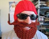 Yukon Cornelius beard hat beard Beanie crochet hat crochet beards knit hat character hat bearded hat Christmas Character Of All Time