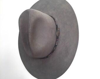 Stetson Western Hat // Grey // Size 7 3/8