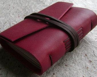 "Pocket journal, pocket diary, 3""x 4"" journal, handmade leather journal, pocket sketchbook, tiny travel diary, (2304)"