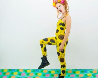 Festival Catsuit - Sunflower Print