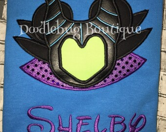 Malificent Mickey Mouse shirt with FREE NAME