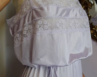 Soft Lilac Lacy Nightgown by Flair, Large