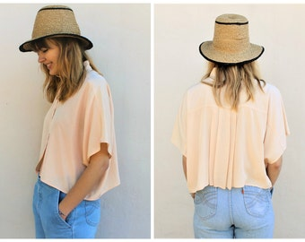 80s vintage shirt | boxy blouse | slouchy & slightly oversized