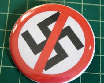 Anti-Nazi button. Profits for charity.