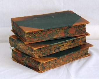 1910s Encyclopedias Very Shabby Lot of Three 3 Art Supply Home Decor