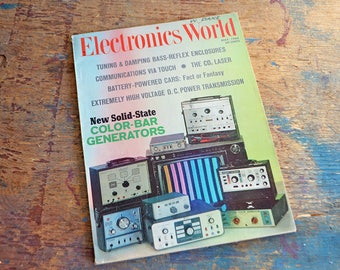 Vintage May 1968 Electronics World Magazine - Featuring New Solid State Color Bar Generators, Battery Powered Cars