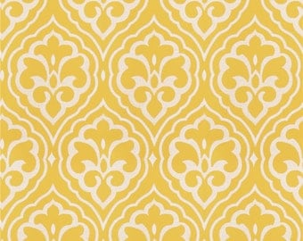 Fabricut Aspire lemon, embroidery, yellow and white drapes, damask, Designer drapes, rod pocket curtain panels, lined drapes