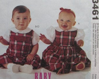 McCalls 3461/Uncut Sewing Pattern/Clothing for Baby/Boy/Girl/Infants/Weight 13-24 lbs/Jumper/Jumpsuit with Snap Crotch/Shirts/Panties/2001