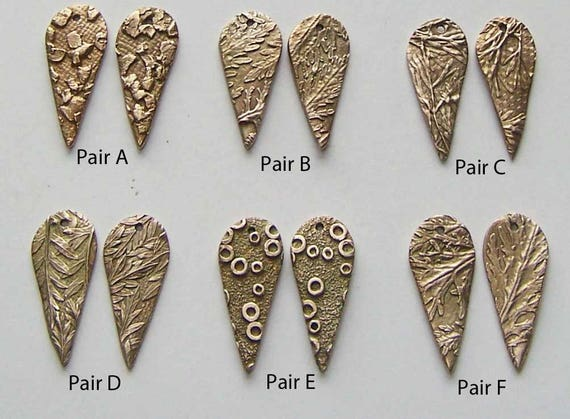 Bronze earring component artisan jewelry findings bronze for Jewelry supply colorado springs
