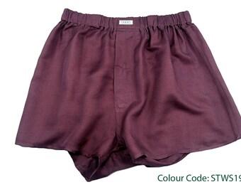 YES New Silk Boxer Shorts S-M-L-XL Men Underwear Short Underpants Soft Briefs Trunk