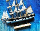 Polly Woodside, Handmade Model Sailing Ship, Tall Cargo Ship, Nautical Decor, Collectible, Wooden Ship, Ship Souvenir, Wooden Sailboat, Sea.