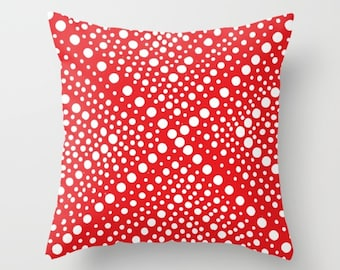 OUTDOOR Throw Pillow - Red Patio Cushion - Modern Geometric X Dot - Outdoor Pillow 16 18 20 inch Patriotic Pillow Red Outside Pillow