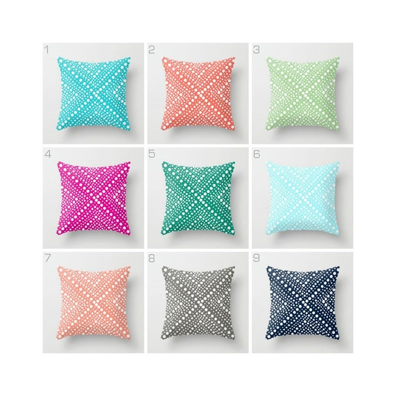 OUTDOOR Throw Pillow . Navy Outdoor Pillow . Outside Cushion . Pink Outdoor Pillow . Patio Pillow . Green Peach Aqua 16 18 20 inch . Lumbar