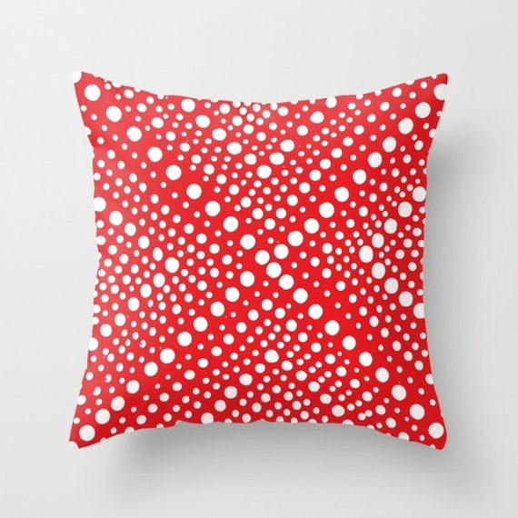 OUTDOOR Throw Pillow . Red Patio Cushion . Modern Geometric X Dot . Outdoor Pillow 16 18 20 inch Patriotic Pillow Red Rectangle Pillow