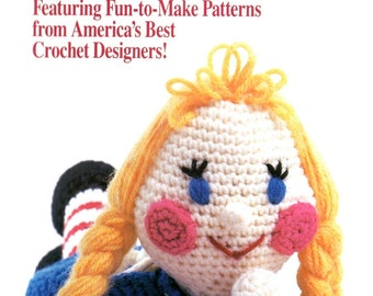 Annie's Crochet Newsletter Smiling Doll Rose Afghan Snowman Pillow Golf Club Covers Stacking Dolls Craft Pattern Magazine 30 Nov Dec 1987