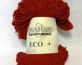 Stash Sale - Cascade Yarns ECO+, Chunky Yarn, Cascade Yarn, Red Yarn, Red Wool Yarn, Yarn Sale, Sale Yarn - 1 skein