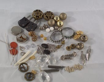 Destash! Inspirational Pairs of Unusual Items for Jewelry Making Beads Bottle Cap Rings Electrical Component Pen Nibs Buckles and More!