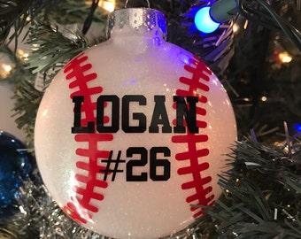 Personalized Baseball or Softball Ornament