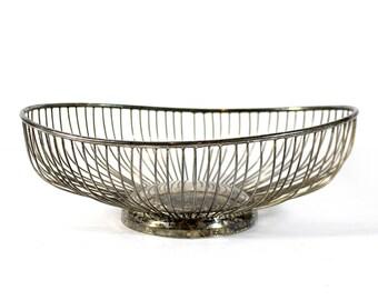 Vintage Wire Silverplated Bowl - Leonard