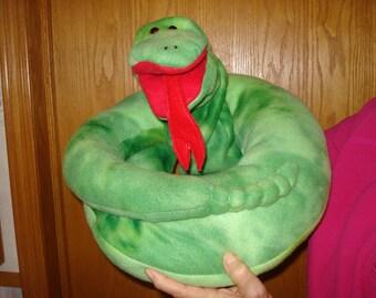 Green snake, 2 piece hand puppet