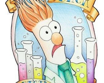 Beaker the Muppet Original Art Print