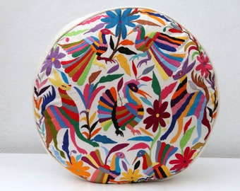 Round Multi Colored Pouf  Ready to ship original Floor Cushion