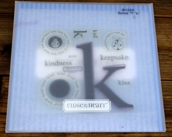 Close to My Heart Acrylic Stamp Set Solos K, B1235