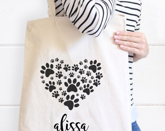 Pet Tote Bag, Dog Tote Bag, Fur Baby Canvas Tote bag, Gifts for Pet lovers, Dog Tote, Heart Tote, Pet Tote Bag, Personalized Dog Tote