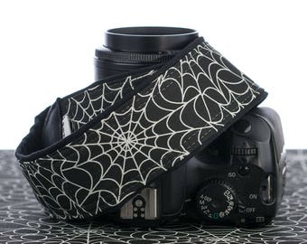 dSLR Camera Strap, Spider Web, Glow in the Dark, Replacement Strap, SLR, Mirrorless, Camera Neck Strap, 285